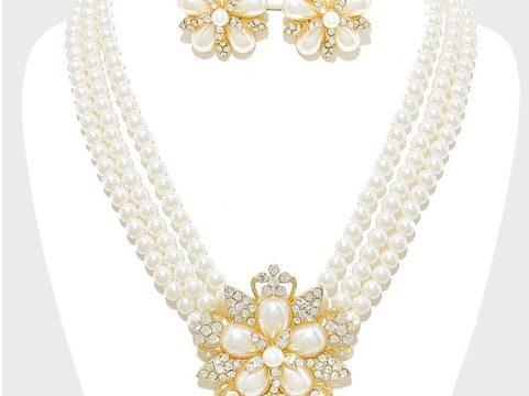 Wholesale Pearl Necklace Set