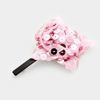 Mesh Flower Barrette