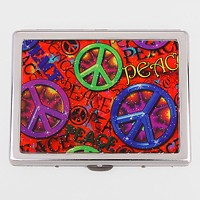 Peace Symbol Cigarette Case