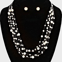 Galactic Pearl Collar Necklace