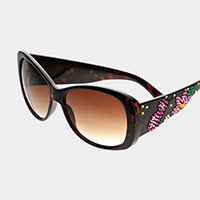 Crystal embellished oversized sunglasses