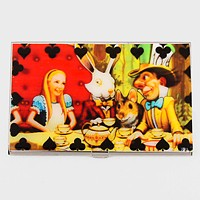 Scene in Alice in Wonderland Card Holder with Pouch