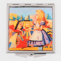 Scene in Alice in Wonderland Compact Mirror with Pouch