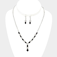 Marquise Crystal Rhinestone Necklace