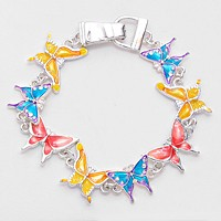 Colorful Butterfly Magnetic Bracelet
