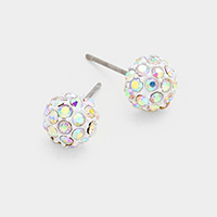 8 mm Crystal Ball Stud Earrings