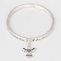 Daughter's Blessing Message Stretch Bracelet