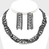 Twisted Arabian Rhinestone Necklace