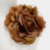 Flower Corsage Brooch / Hair Clip
