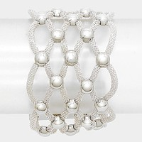 Lattice Metal Mesh Ball Magnetic Bracelet