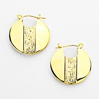 Metal pin catch earrings