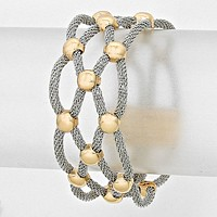 Lattice Metal Mesh Bracelet