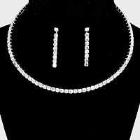 Rhinestone Evening Choker Necklace