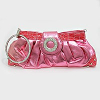 Crystal Bangle Ruffle Clutch