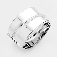 Hinged Metal Bangle Bracelet
