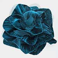 Fabric mesh flower brooch / hair pinch clip