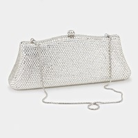 Crystal hard case evening clutch with strap _ reduced price