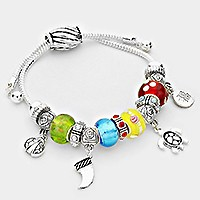 Multi-bead Turtle & Ladybug Cinch Bracelet