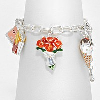 Girl's Favorites _ Flower & Ice Cream Charm Bracelet