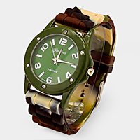 CAMOUFLAGE JELLY BAND FASHION WATCH