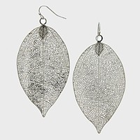 Leaf Metal Earrings