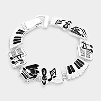 Magnetic Musical Notes Bracelet