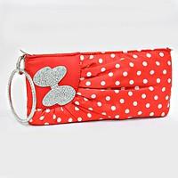 Crystal Pave Bow Accented Polka Dot Bangle Clutch