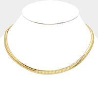 Metal Omega Choker Necklace