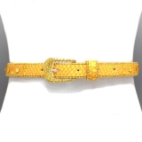 Yellow Bubble Crystal Waist Belt