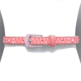 Pink Bubble Crystal Waist Belt