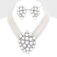 Crystal Pearl Bubble Necklace