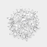 Bubble Stone Cluster Snowflake Pin Brooch