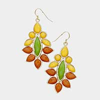 Petal Gemstone Earrings