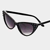 Crystal Cat Eye Sunglasses