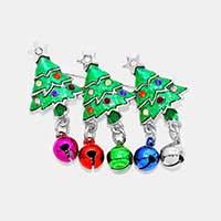 Crystal Enamel Christmas Tree Ornament Pin Brooch