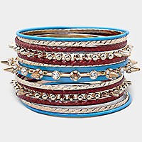 15 PCS - stud stack bangle bracelets