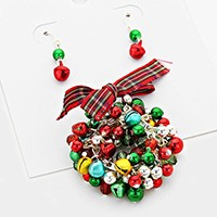 Christmas WREATH Pendant Set