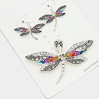 Dragonfly magnetic pendant set