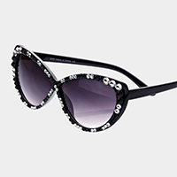 Crystal Trimmed Cat Eye Sunglasses
