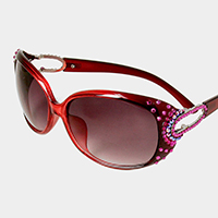 Crystal Embellished Sunglasses