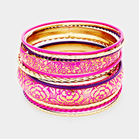 12Layers Mixed Floral Pattern Bangle Bracelet