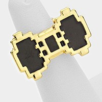 PIXELATE BOW STRETCHABLE RING