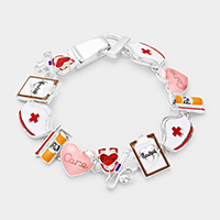 Nurse Theme Link Magnetic Bracelet