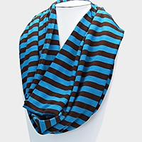 Striped Spring Infinity Scarf