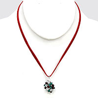 Christmas Bead Pendant Necklace