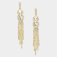 Marquise Fringe Evening Earrings