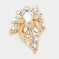 Floral Crystal Pave Bouquet Brooch / Pendant