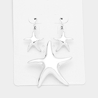 Metal starfish pendant set