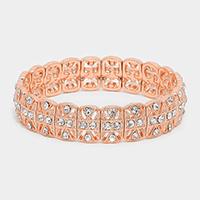 Crystal Metal Stretch Bracelet