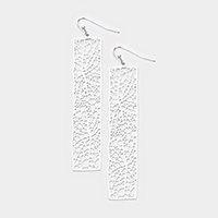Leaf Cutout Drop Earrings